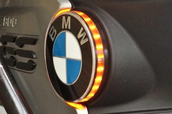 Led embleem knipperlicht 70mm nieuwe modellen