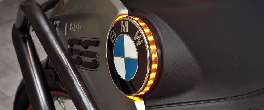 F800GS 68 mm led embleem knipperlicht